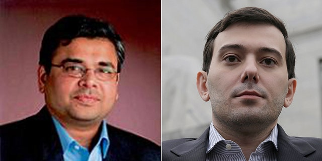 Nirmal Mulye (left) is facing intense criticism for claiming he has a 'moral' right to raise the price of crucial antibiotics drugs; He has evoked memories of Martin Shkreli (right), the infamous 'pharma-bro'