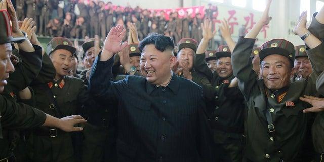 North Korean leader Kim Jong Un reacts to successful ICBM test.