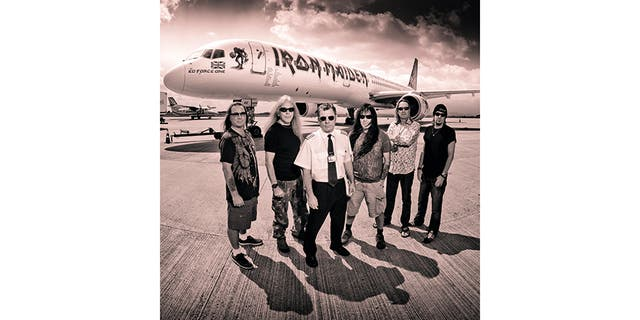 Iron Maiden with Ed Force One.