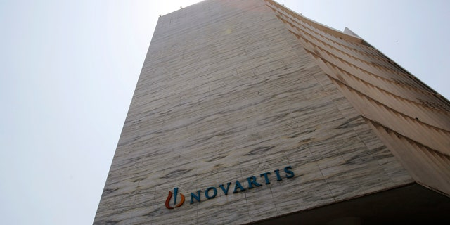A Novartis logo is pictured on its headquarters building in Mumbai April 1, 2013. (REUTERS/Vivek Prakash)