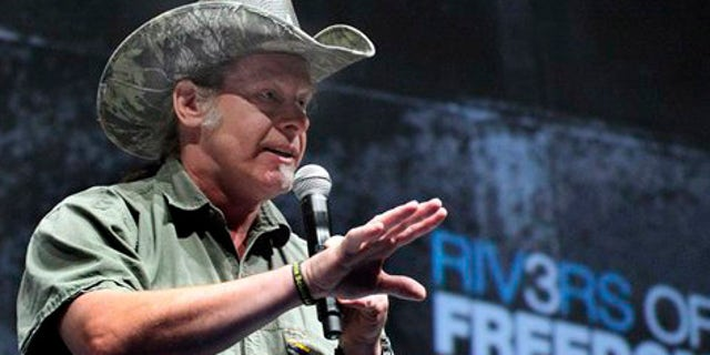 FILE: Musician and gun rights advocate Ted Nugent addresses a seminar at the National Rifle Association's 140th convention in Pittsburgh.