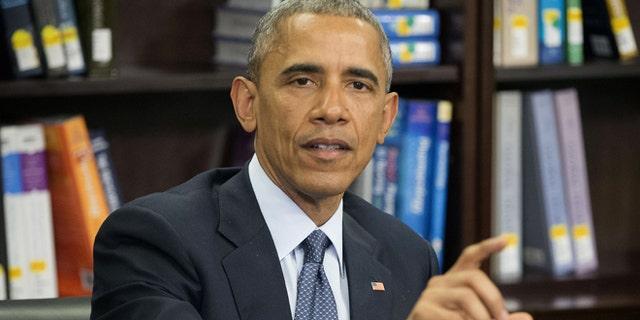 April 7, 2015: President Obama at Howard University in Washington.