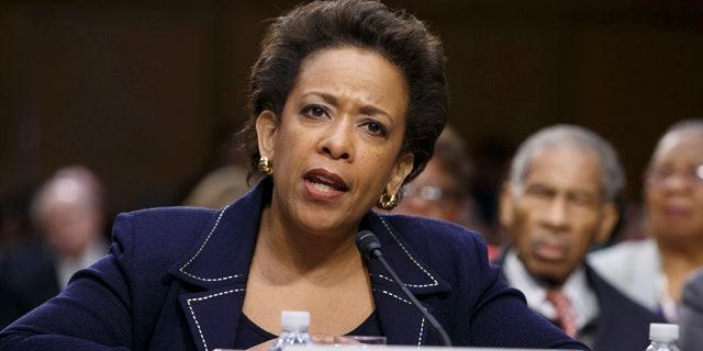 FILE - In this Jan. 28, 2015 file photo, Attorney General nominee Loretta Lynch testifies on Capitol Hill in Washington. (AP Photo/J. Scott Applewhite, File)