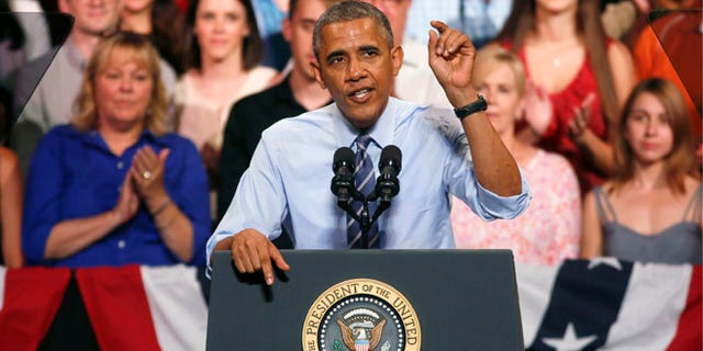 July 10, 2014: President Obama at the Paramount Theatre in Austin, Texas.