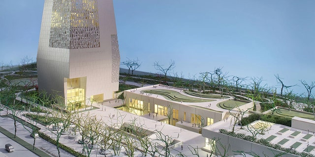 The Obama Presidential Center design as seen from one angle.