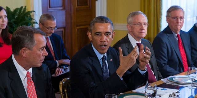 Nov. 7, 2014: President Obama meets with congressional leaders in the White House in Washington, D.C.