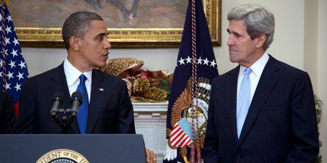 FILE: Dec. 21, 2012: President Obama announces his nomination of Sen. John Kerry, D-Mass., as next secretary of state, at the White House, in Washington.   Summary