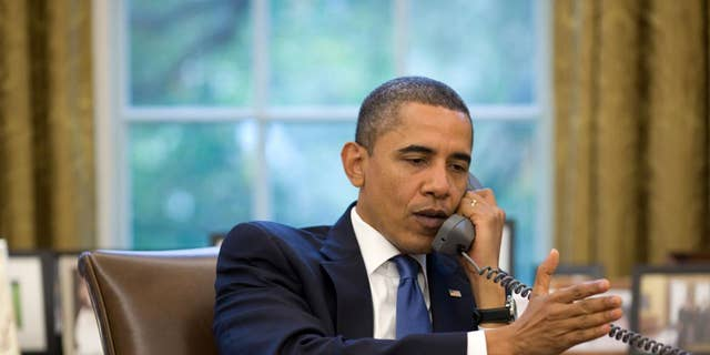 President Obama gives an interview to radio host Michael Smerconish Wednesday. (White House photo)