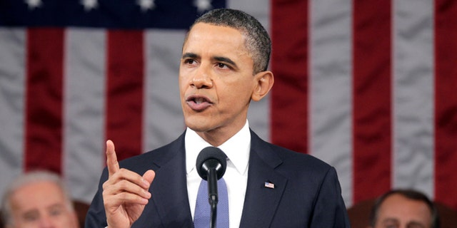 FILE: Jan. 25, 2011: President Obama delivers his State of the Union address on Capitol Hill in Washington, D.C.