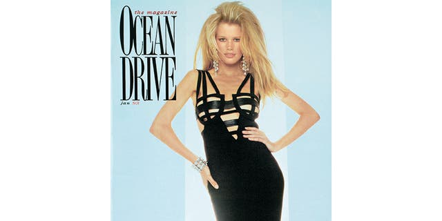 Claudia Schiffer previously appeared on the cover of Ocean Drive in 1993.