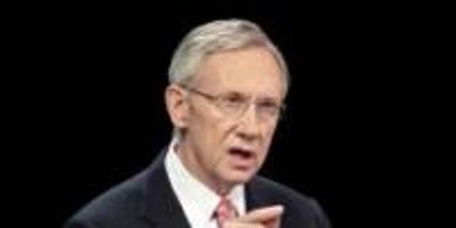 Sen. Majority Leader Harry Reid speaks at an Oct. 14 debate / AP