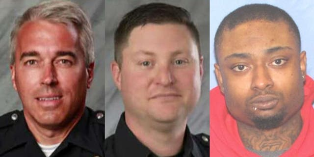 Veteran officers Antony Morelli, 54, and Eric Joering, 39, were killed in a gun battle with violent criminal Quentin Smith in the Columbus suburb of Westerville Saturday.