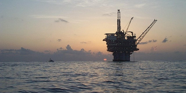 UNDATED: This Kerr-McGee handout photo shows the company's Gunnison spar truss oil facillity in the Gulf of Mexico. Oil prices are nearing $50 a barrel in part because oil facilities in the gulf stopped production due to an unusually active hurricane season. Worlers were evacuated from the platforms for Hurricane Ivan.  (Photo by Kerr-McGee/John Manning via Getty Images)