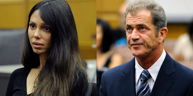 Actor Mel Gibson and his former girlfriend Oksana Grigorieva attend a hearing in Los Angeles Superior Court to finalize financial issues in their custody battle in Los Angeles on August 31, 2011.
