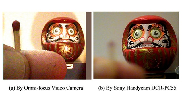 The omni-focus video camera can capture images at varying distance simultaenously, unlike traditioanl cameras.