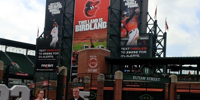 May 27, 2015: Visitors to Oriole Park at Camden Yards, the Baltimore Orioles' ballpark, Baltimore, Md.