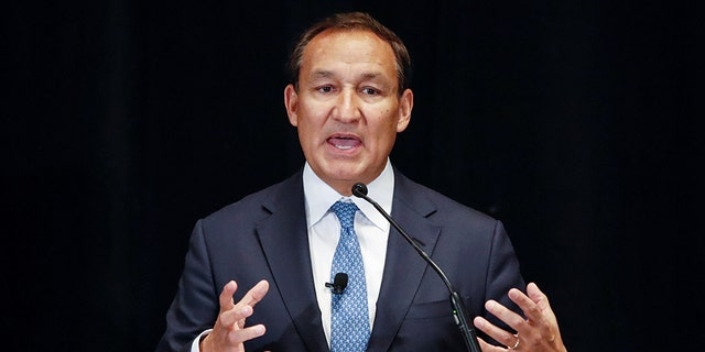 Oscar Munoz, CEO of United Airlines, discusses his vision for the company, in Chicago, Illinois, U.S., March 21, 2018.