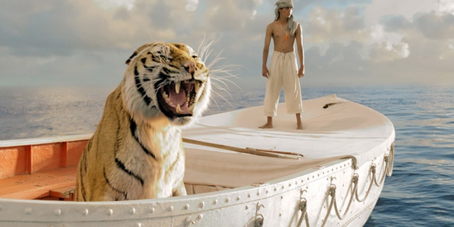 "his film image released by 20th Century Fox shows Suraj Sharma as Pi Patel in a scene from ""Life of Pi.""  With 11 Academy Awards nominations, second only to ""Lincoln"" with 12, and the sort of global box-office receipts normally reserved for superheroes, ""Life of Pi"" is one of the most unusual megahits ever to hit the big-screen.  (AP Photo/20th Century Fox)"