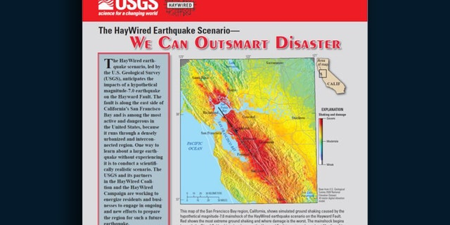 Usgs Earthquake Map San Francisco.California Fault Line Is Tectonic Time Bomb For Disastrous