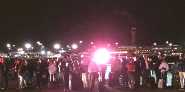 All passengers were safely evacuated and transported to the terminal.