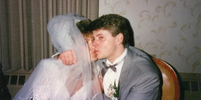 Pamela and Gregg Smart on their wedding day.
