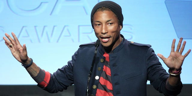 Recording artist Pharrell Williams speaks during the ASCAP Rhythm & Soul Music Awards on June 29, 2012 in Beverly Hills, Calif. (Getty Images)