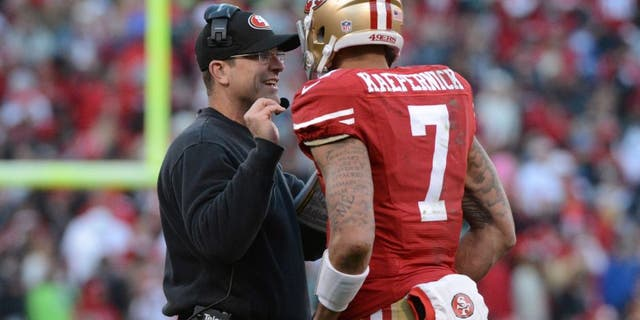 Jim Harbaugh had a contentious relationship with Jed York at the end of his tenure in San Francisco. (Kyle Terada-USA Today Sports)
