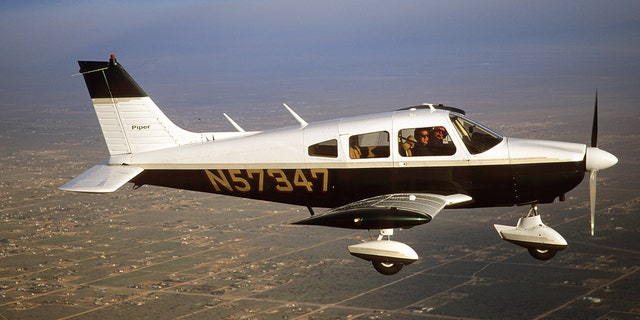 Authorities found wreckage of a Piper Cherokee 235, similar to the one pictured here.
