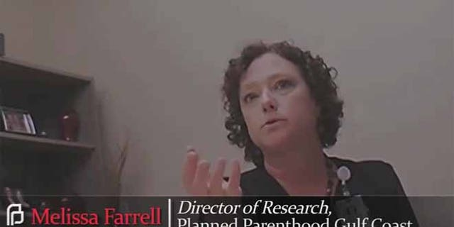 Melissa Farrell, the Director of Research for Planned Parenthood Gulf Coast, is featured in the latest release by an anti-abortion group.