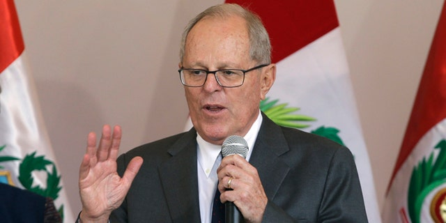 Peru's president-elect Pedro Pablo Kuczynski speaks during a news conference in Lima, Peru. (AP Photo/Martin Mejia)