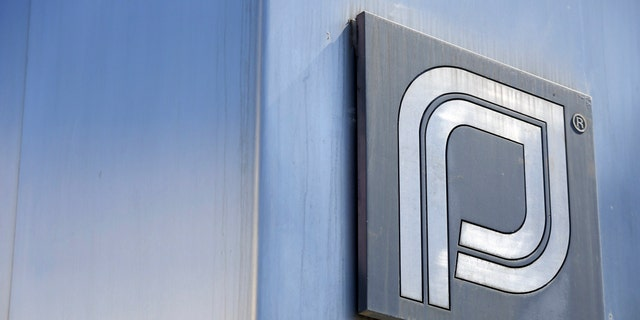 The Planned Parenthood logo is pictured outside a clinic.