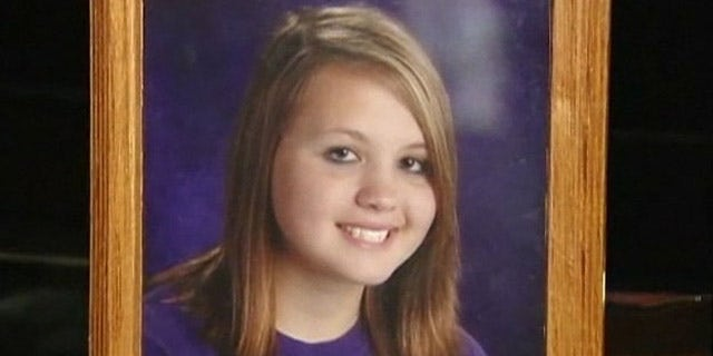 Paige Moravetz, pictured above, was found dead Saturday along with her friend, Haylee Fentress. The 14-year-old girls, who felt bullied by their peers, hanged themselves in an apparent suicide pact (MyFoxTwinCities.com).