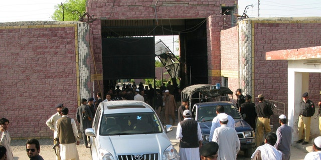 April 15, 2012: Pakistani security officials visit the central jail in Bannu, 106 miles south of Peshawar, Pakistan.