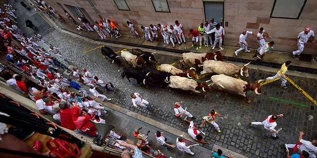 Revellers from around the world flock to Pamplona every year to take part in the eight days of the running of the bulls.
