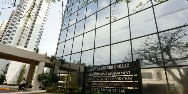 A marquee of the Arango Orillac Building lists the Mossack Fonseca law firm in Panama City, Sunday, April 3, 2016. German daily Sueddeutsche Zeitung says it has obtained a vast trove of documents detailing the offshore financial dealings of the rich and famous. The International Consortium of Investigative Journalism says the latest trove contains includes nearly 40 years of data from the Panama-based law firm, Mossack Fonseca. The company didn't immediately respond to a request for comment. (AP Photo/Arnulfo Franco)