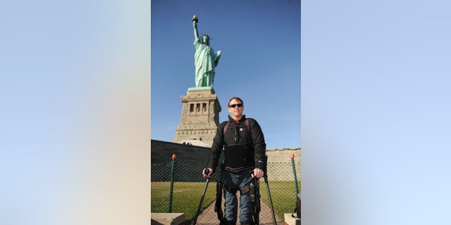 Wounded vet Gary Linfoot. Photo by Craig Barritt/Getty Images for Infinite Hero Foundation