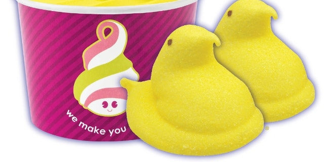 Menchie's Frozen Yogurt is serving up of a creamy marshmallow flavored frozen yogurt inspired by the favorite Easter treat.