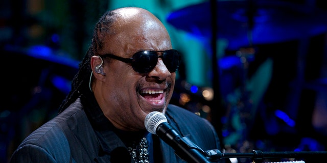 "May 9, 2012 file photo, Stevie Wonder performs during the ""In Performance at the White House"" in the East Room of the White House in Washington, honoring songwriters Burt Bacharach and Hal David."