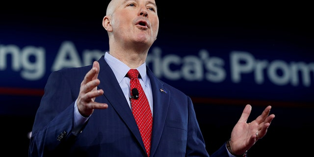 Republican Governor of Nebraska Pete Ricketts speaks at the Conservative Political Action Conference in Oxon Hill, Maryland, U.S. February 24, 2017.