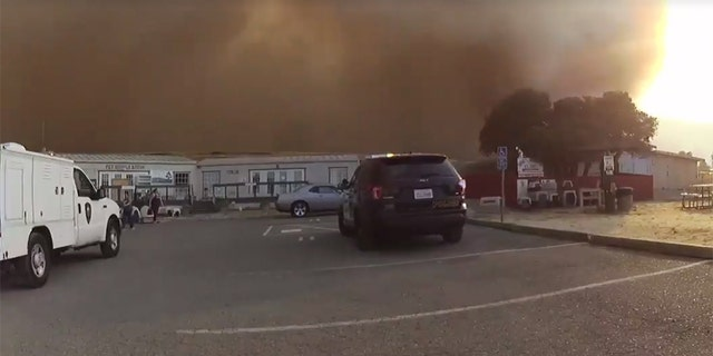 The SPCA called Vacaville police for help in evacuating around 60 dogs and some cats as the fast-moving Nelson Fire threatened the area in California.