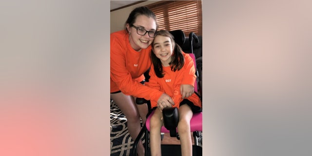 9-year old Rylee Sanford suffers from bilateral close-lipped schizencephaly, a condition that leaves her confined to a special type of wheelchair.