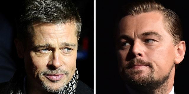 Brad Pitt (left) and Leonardo DiCaprio (right).