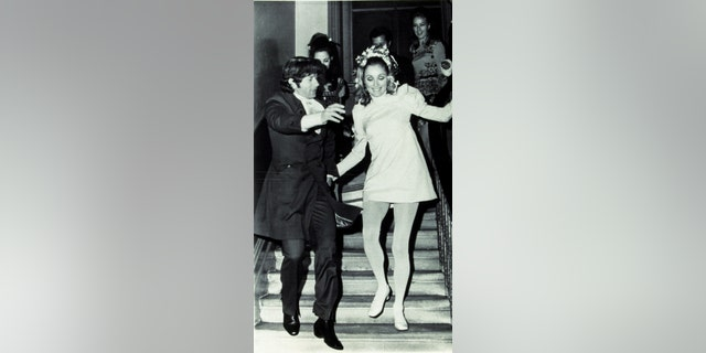 Sharon Tate seen in this file photo from her wedding to Roman Polanski in 1968.