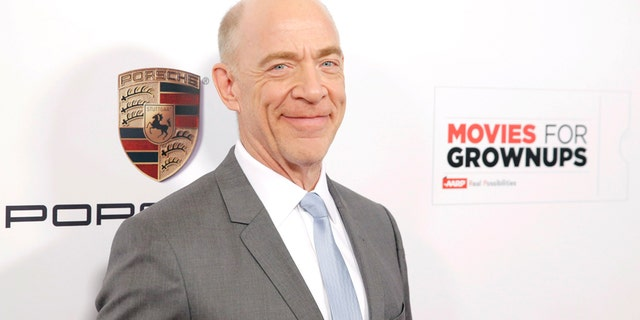 IMAGE DISTRIBUTED FOR PORSCHE - J.K. Simmons attends AARPs 14th Annual Movies for Grownups Awards Gala with Porsche at the Beverly Wilshire on Monday, February 2 in Beverly Hills, Calif. (Photo by Todd Williamson/Invision for Porsche/AP Images)