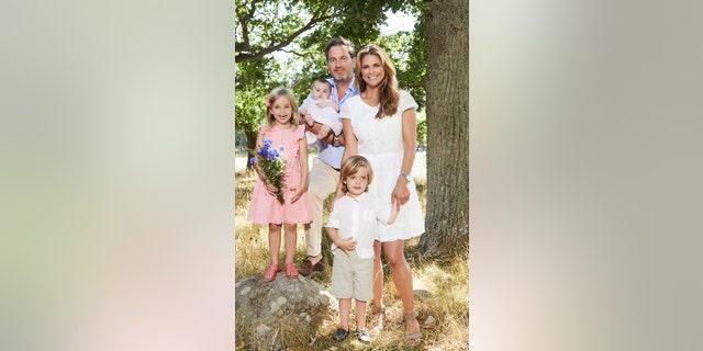 Princess Madeleine and her family.