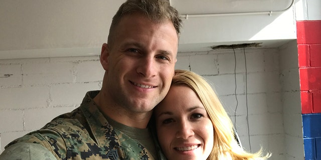 Christina Anderson and Staff Sgt. Bill Pennewell have been engaged since March 2017.