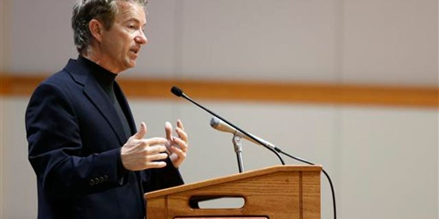 Oct. 22, 2014: Sen. Rand Paul, R-Ky., speaks at a campaign event for Republican businessman Rod Blum, who is running against Democratic state lawmaker Pat Murphy in the 1st Congressional District.