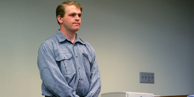 """Defense witness Allen Steed, who was married to the accuser, listens to a question during Warren Jeffs ' trial in St. George Utah September 19, 2007. A Utah judge rejected a motion to dismiss charges against a self-described """"prophet"""" of a breakaway Mormon sect that practices polygamy after prosecutors rested their case unexpectedly early on Tuesday. Jeffs, 51, the leader of the Fundamentalist Church of Jesus Christ of Latter Day Saints, is on trial on two counts of being an accomplice to rape after he presided over a wedding of a 14-year-old girl."""