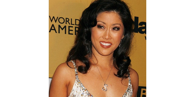 "Contestant Kristi Yamaguchi poses at the ""Dancing with the Stars"" 100th show party in Hollywood, California May 6, 2008."
