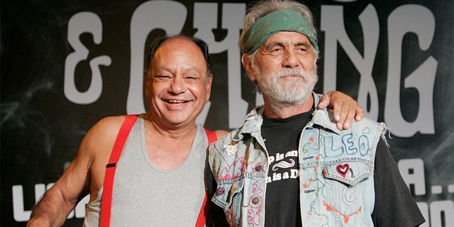 "Richard ""Cheech"" Marin (left) and Tommy Chong are celebrating the 40th anniversary of ""Up in Smoke."""